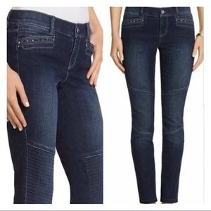 WHBM Skinny Leg Moto Jeans